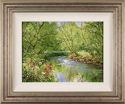 Terry Evans, Original oil painting on canvas, Woodland Beck
